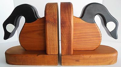 Canadian Geese Wooden Bookends Phil Markham Maine Cabin Decor