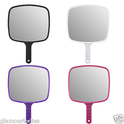 Hand Held Deluxe Version Salon Mirrors Hairdressing Vanity Beauty Four Colours