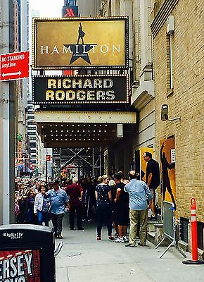 HAMILTON New York orchestra 2 TWO tickets L NYC MATINEE 8/5/17 Sat August 5 2017