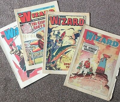 THE WIZARD COMIC, Four Comics Dated In 1970's