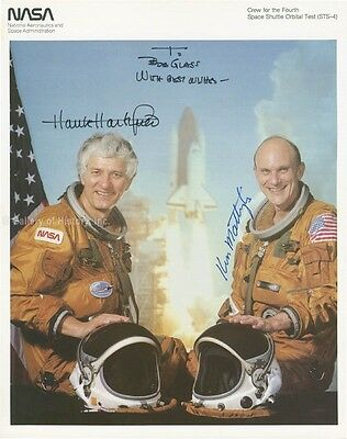 Space Shuttle Columbia - Sts - 4 Crew - Inscribed Photograph Signed