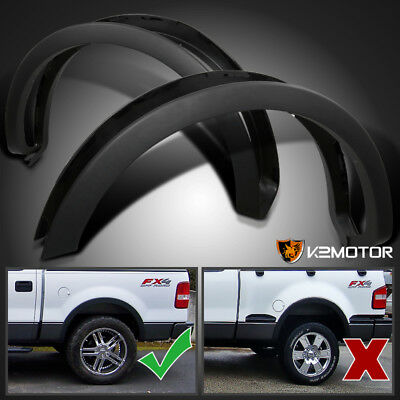 2004-2008 Ford F150 Styleside Factory Style Wheel Covers Fender Flares Black