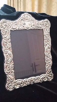 Sterling Silver Embossed Photo Frame