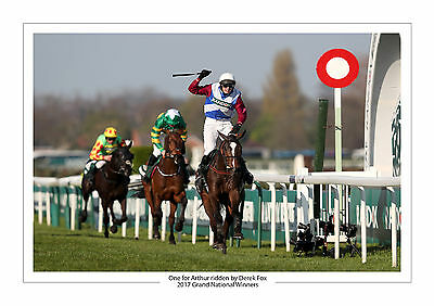Grand National 2017 One For Arthur Derek Fox Horse Racing A4 Photo Aintree 2