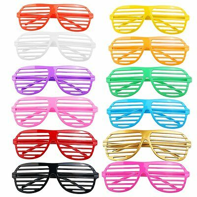 80's Neon Shutter Shades Glasses Retro Sunglasses Clubbing Night Out Party