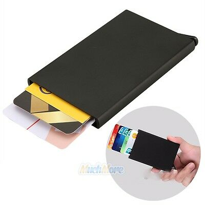 Aluminum Credit Card Case Protector Rfid Card Holder Men Leather Mini ID Wallet