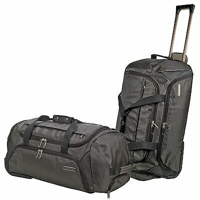 Kappa Large Duffel Collapsible Holdall Weekend Travel Bag Case Easy Glide Wheels