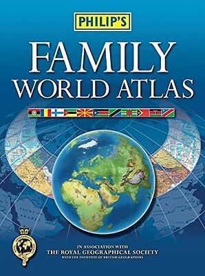Philip's Family World Atlas Book The Cheap Fast Free Post