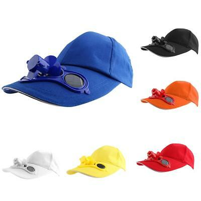 Outdoor Cool Solar Powered Fan Hat Cap Camping Fishing Baseball Tennis Golf