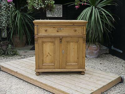 Gorgeous! Old Antique Stripped Pine Dresser Base/sideboard/cupboard/cabinet