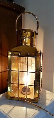 Heavy Duty Solid Brass Nautical Chied Electric Lantern