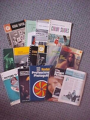 Vintage Lot of 15 PHOTOGRAPHY Books KODAK  Camera Pamphlets 1950's