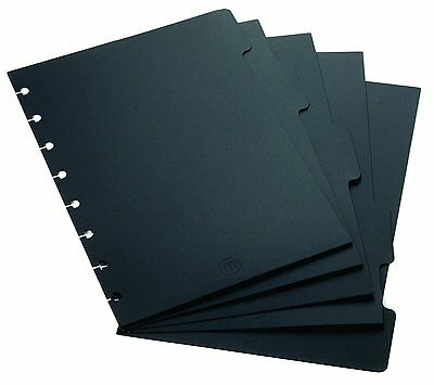 "Staples? Arc Notebook Tab Dividers, Junior-sized, Black, 5 5/6"" x 8 1/2"", Set of"