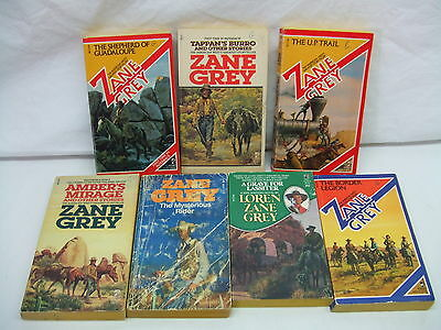 Lot Of (7) Zane Grey Westerns Paperbacks In Good Condition