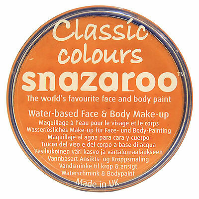 Snazaroo APRICOT 18ml FACE PAINT Fancy Dress Party Stage MakeUp Classic Colours