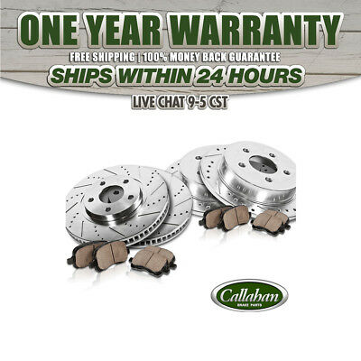Front & Rear DRILLED SLOTTED BRAKE ROTORS & CERAMIC PADS 2010 2011 2012 Audi A3