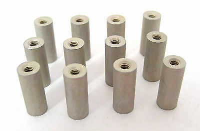 "Aluminum Round Spacers/Standoffs, 4/40 x 5/8"" Long, 12/Lot: HH Smith 8324"