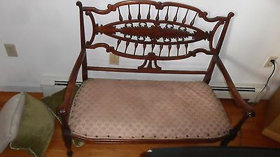 vintage settee antique mahogany? french couch chair