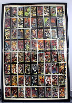 Image Comics '95 Todd McFarlane SPAWN Complete Trading Card Set - 4 Uncut Sheets