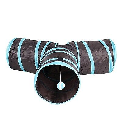 Hengfey Cat Tunnel Tubes 3 Way Collapsible Kitten Tube Pet Toys