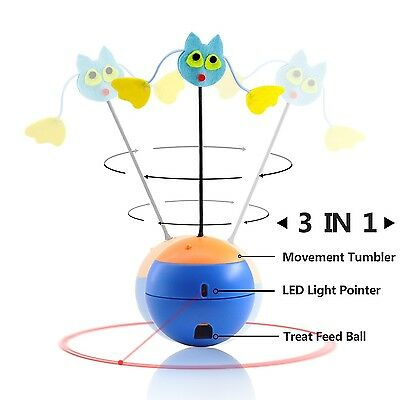 Cat Toys Interactive LED Light Pointer Cats Tumbler Puzzle Crazy Fun Food Lea...