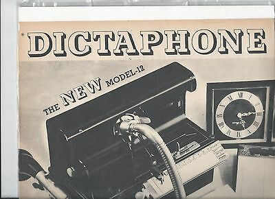 Dictaphone new model 12 When the office force has gone ad