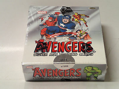 AVENGERS Silver Age sealed Trading Card Box! 24 Packs! Rittenhouse Archives