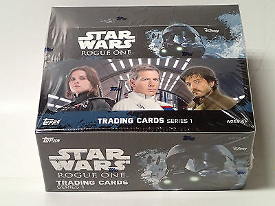 STAR WARS: Rogue One Series 1 Sealed Retail Box of Trading Cards! 24 Packs!