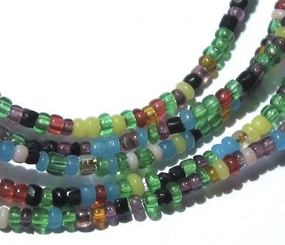 """30"""" Strand Of Amazing Tiny/seed Mixed Colorful Venetian Antique Beads"""