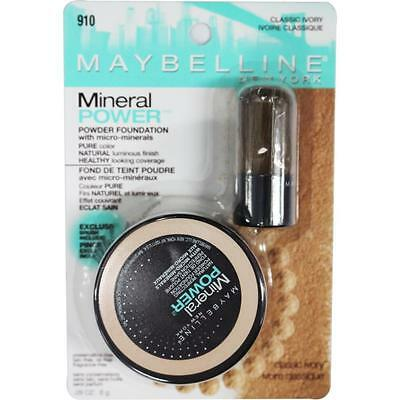 MAYBELLINE 8g MINERAL POWER POWDER FOUNDATION 910 CLASSIC IVORY Brand New