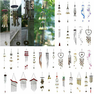 Metal Bells Wind Chime Outdoor Garden Hanging Charm Decor Church Ornament Gift A