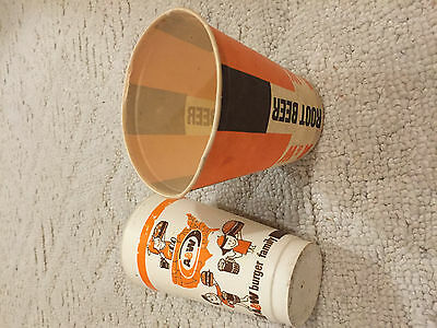 1960's/70's era A&W root beer drive in 16 oz paper and plastic burger family cup