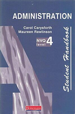 NVQ Administration Level 4 Student Handbook by Rawlinson, Maureen Paperback The