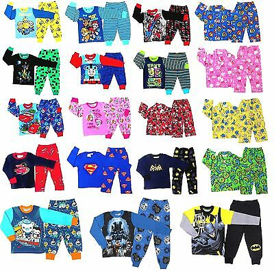NEW Sz 1~16 KIDS PYJAMAS WINTER BOYS GIRLS SLEEPWEAR PAW NIGHTIES TEE POKEMON GO