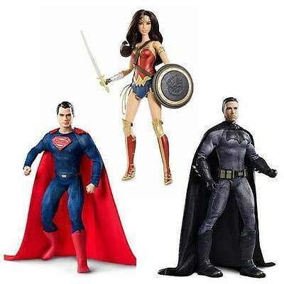 BARBIE Dawn Of Justice Batman V Superman Wonder Woman Batman Superman Set NEW