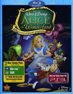 Alice in Wonderland (1951) [New Blu-ray] With DVD, Anniversary Edition, Dolby,