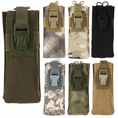 Airsoft Tactical Military Molle MBITR Radio Walkie Talkie Belt Bottle Pouch Bag