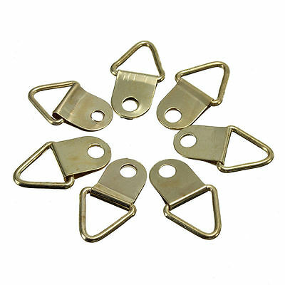 D Ring Frame Hanger Hooks Picture Frame Hanging Triangle Screws Brass Screws