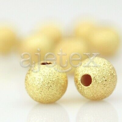 35/70/95/165pcs Round Metal Beads Spacers Stardust Brass 4/5/6/8mm diy Jewelry