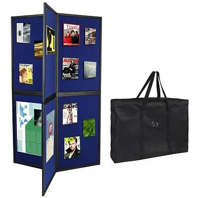 Foldable Panel Display Board 360 View Trade Show Museum Flannelette Stand Booth