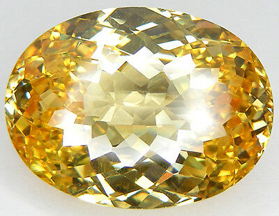 130,49Ct. Qualite De Collection Canari Jaune Zirconia Cubique Cz Ovale Close Cut