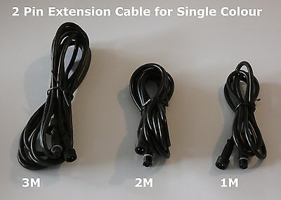 2-Pin Extension Cables for 12v LED Deck & In-Ground 2 Core Deck lights