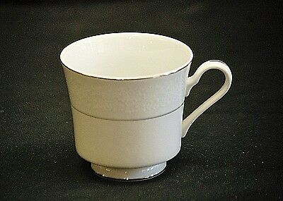 "Wakefield by International Silver 3"" Footed Cup White Design Platinum Trim Verge"