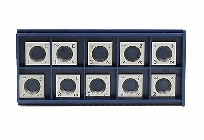 14mm Square Corner Carbide Inserts (14mm lengthX14mm widthX2.0 thick),Pack of 10