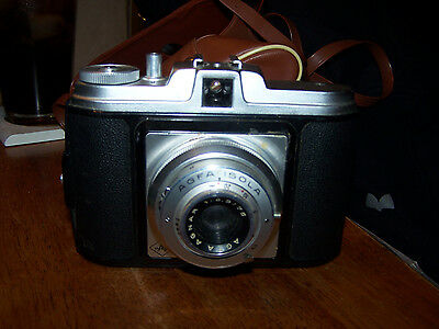 Vintage Agfa Isola Camera Made in Germany with Brown Case and Strap LOOK!