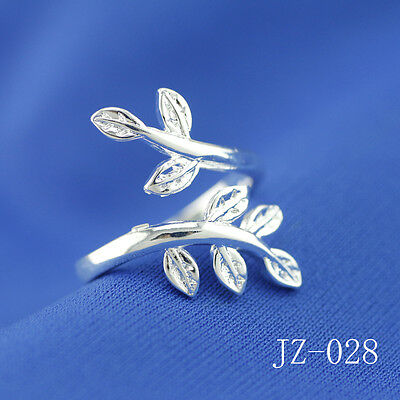 Wholesale 925 Sterling Silver Plated Women Fashion Wide Face Rings SIZE Open 046