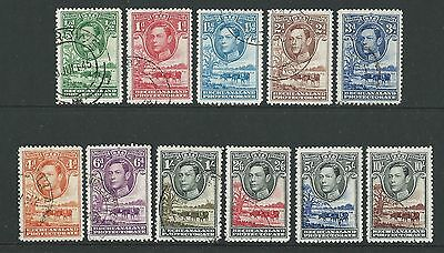 Bechuanaland 1938 George Vi Set Of 11 Fine Used