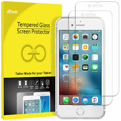 JETech® 2-Pack Tempered Glass Screen Protector Film for iPhone 7 6 6s Plus SE 5s