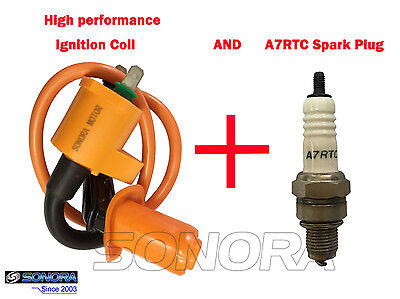 Racing Ignition coil spark plug TORCH A7RTC GY6 4 stroke scooter