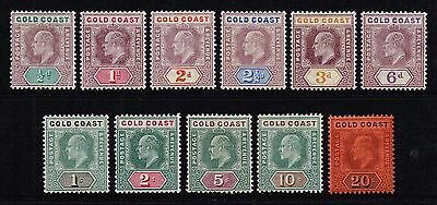 Gold Coast 1902 King Edward VII set to 20s., MH (SG#38/48)